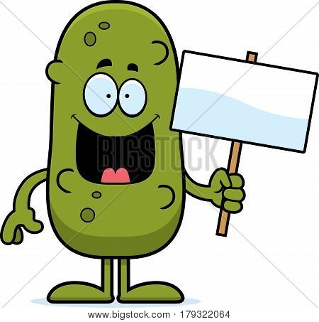 Cartoon Pickle Sign