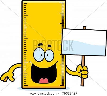 Cartoon Ruler Sign