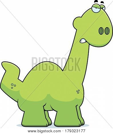Angry Cartoon Apatosaurus