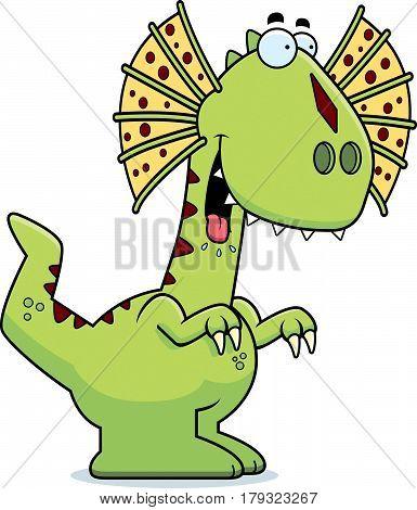 Hungry Cartoon Dilophosaurus