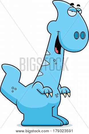 Sly Cartoon Parasaurolophus