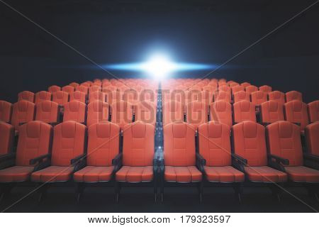 Red Cinema Chairs Front