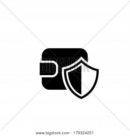 Wallet Protection Icon. Flat Design. Business Concept Isolated Illustration.