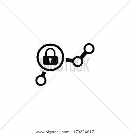 Security Checkpoint Icon. Flat Design. Business Concept Isolated Illustration.