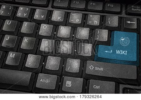 Close-up View On White Conceptual Keyboard Wiki
