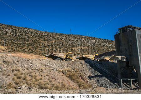 The village of Santa Barbara in Castellon (Valencia). The village of coal mining. Spain. November 2007