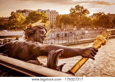 Detail of the Pont Alexandre III the