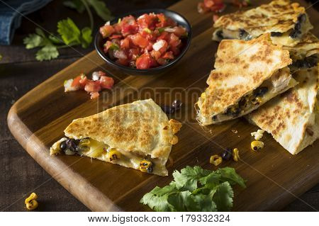 Homemade Chicken And Cheese Quesadilla