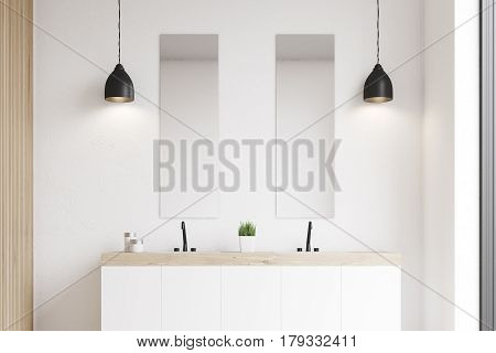 Double Sink, White Wall
