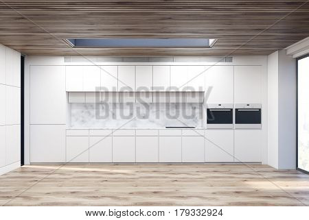 Marble Kitchen With Two Ovens