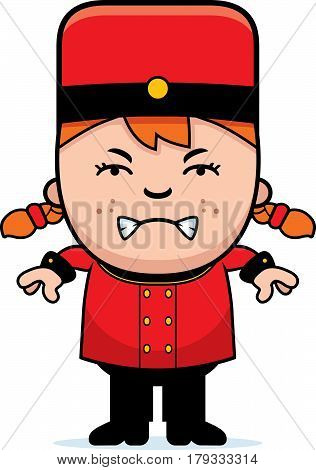 Angry Cartoon Bellhop