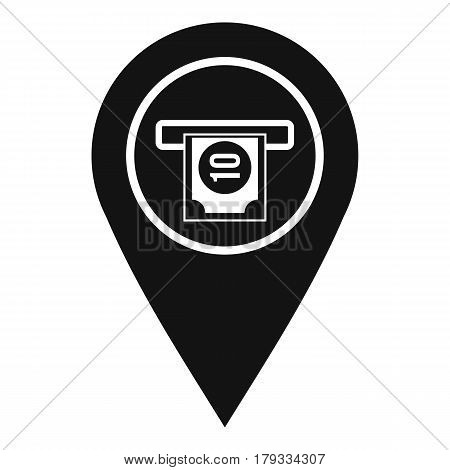 Cash terminal pointer icon. Simple illustration of cash terminal pointer vector icon for web