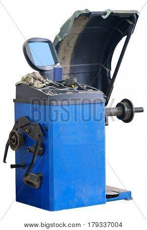The image of tire balancing machine