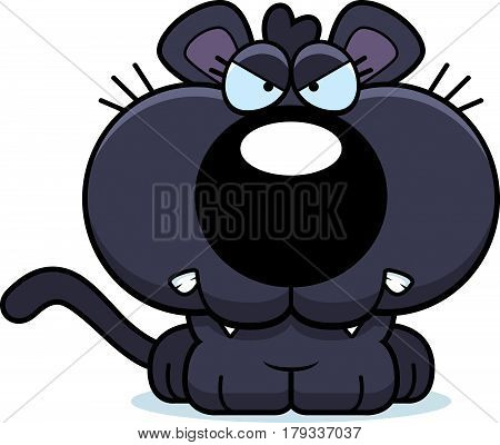Cartoon Panther Angry