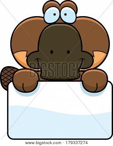 Cartoon Platypus Sign
