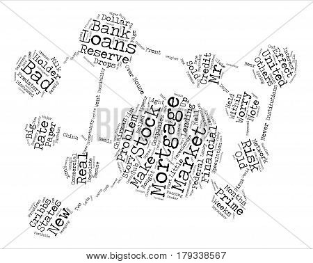 Whats the worry about bad mortgages Word Cloud Concept Text Background