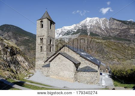 Roman Church of Sant Joan de Boi in the Boi Valley (Catalonia - Spain). This is one of the nine churches which belongs to the UNESCO World Heritage Site.