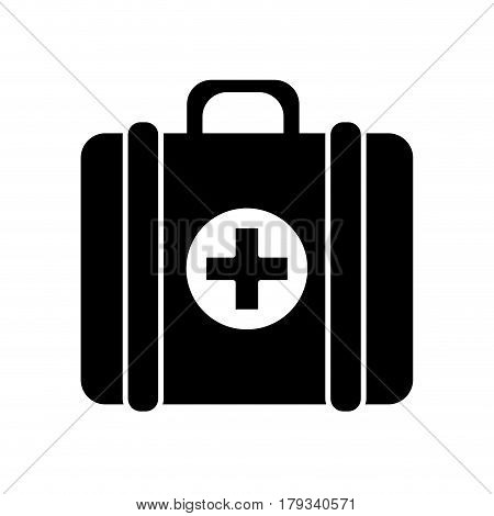 contour first aid kit medications tools, vector illustration