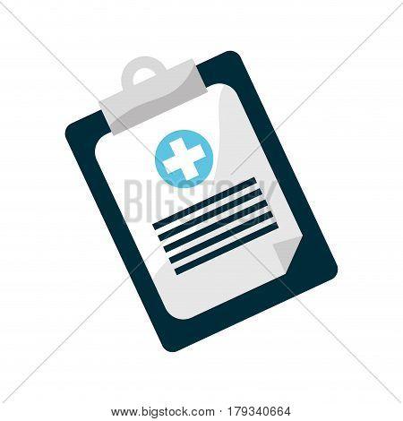 clipboard hospital prescription pad icon, vector illustration