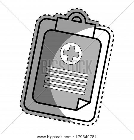 silhouette hospital prescription pad icon, vector illustration