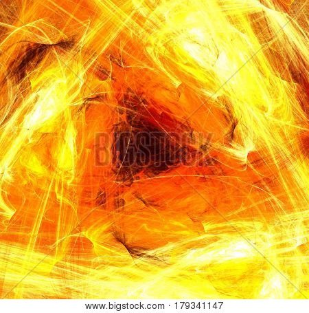 Flame triangle shape fantasy color effect abstract square