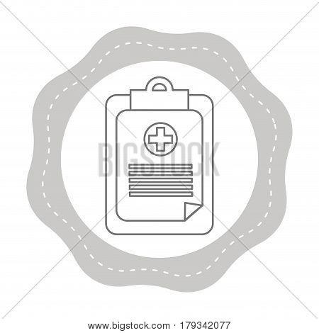 figure sticker hospital prescription pad icon, vector illustration