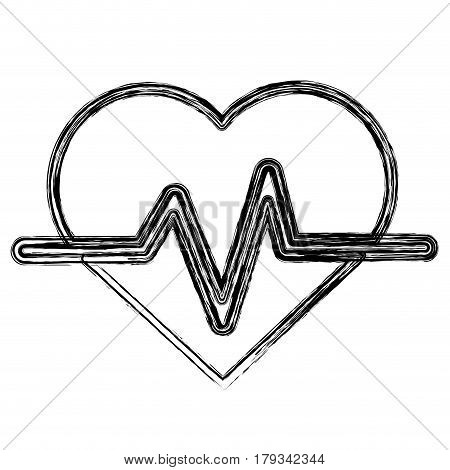 figure heartbeat cardio vital sign, vector illustration