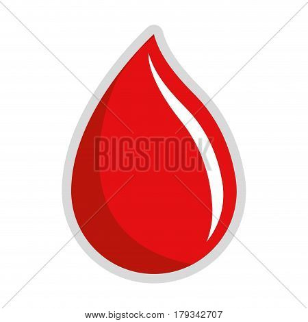 red drop blood donation transfusion, vector illustration