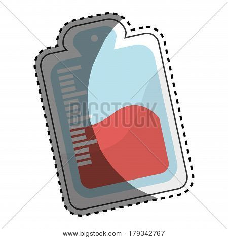 red blood donation bag transfusion, vector illustration design