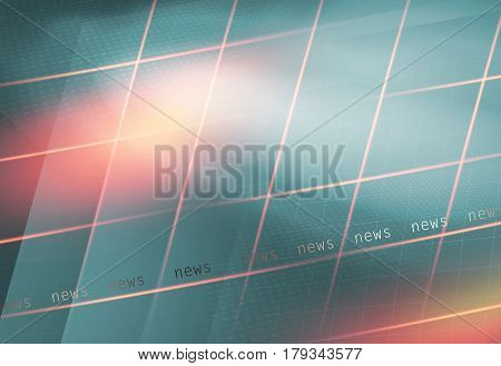 Abstract Multiple Crossed Line Background with News text.