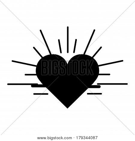 back contour heartbeat cardio vital sign, vector illustration