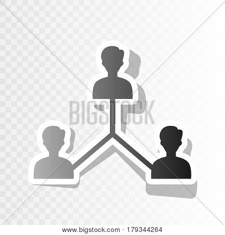 Social media marketing sign. Vector. New year blackish icon on transparent background with transition.
