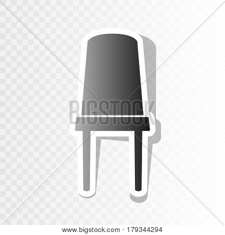 Office chair sign. Vector. New year blackish icon on transparent background with transition.