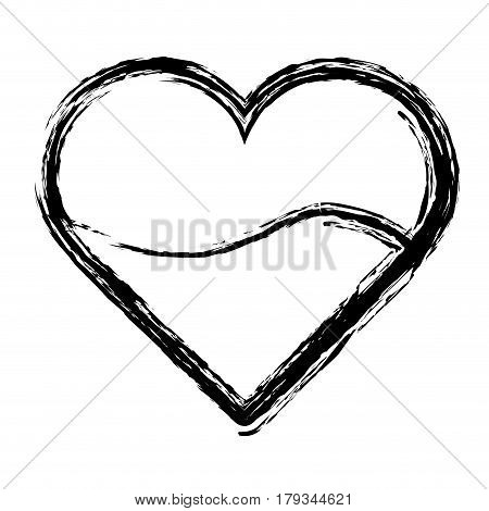 silhouette heart blood donation transfusion, vector illustration