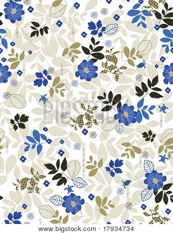 Vector Retro Floral Pattern (seamless)