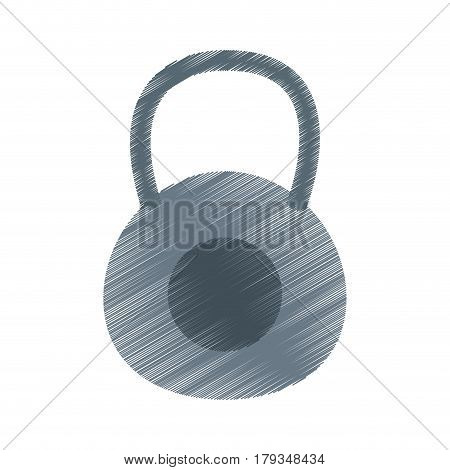 kettlebell weights icon image vector illustration design