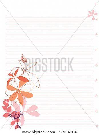 Vektor sablon helyhez kötött levél