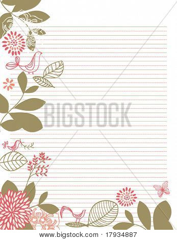 Vector Template for Stationary Letter