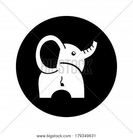 cute baby elephant icon vector illustration design