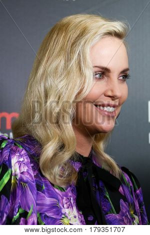 LAS VEGAS-MAR 29: Actress Charlize Theron attends the Focus Features presentation at Caesars Palace during CinemaCon on March 29, 2017 in Las Vegas, Nevada.