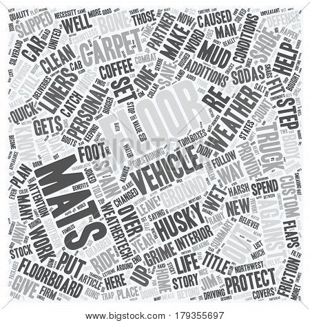 Why Floor Mats Can Save Your Life text background wordcloud concept