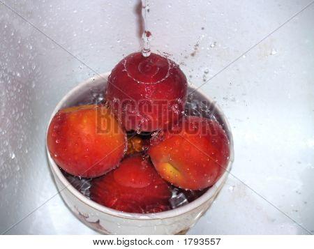 Pfirsiche Splash