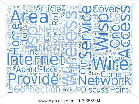 Why Go Wireless With Your ISP text background word cloud concept