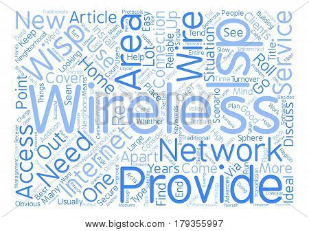 Why Go Wireless With Your ISP Word Cloud Concept Text Background