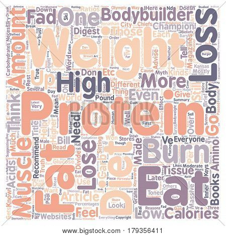 Why High Protein Diets Won t Help You Lose Weight text background wordcloud concept