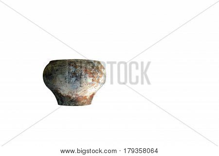 Beautiful pitcher isolated on white background , without a handle