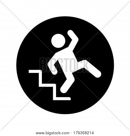 insurance person accident icon vector illustration design