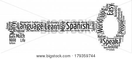 Why Should I Learn Spanish Word Cloud Concept Text Background