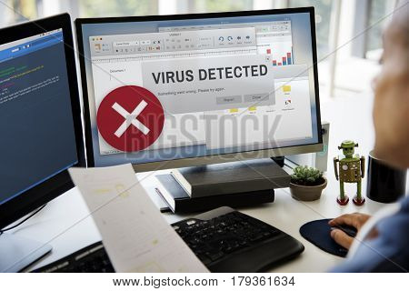 Virus Detected Spam Caution Window Pop Up