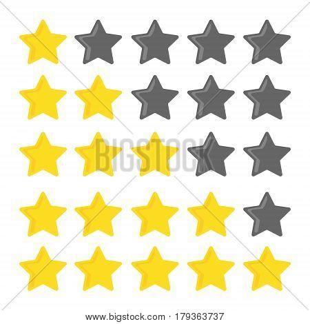 5 star rating. Set for website ratings